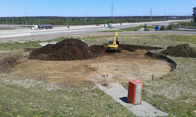 Proceso de construcción Reposo, excavación.